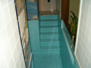 Resurfaced Baptismal Stairs